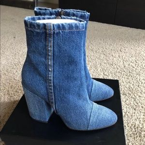Authentic Dries Van Noten Denim Boots